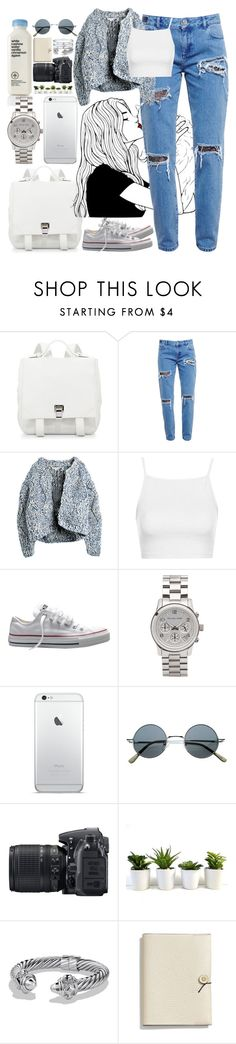 """""""*836"""" by asoc10 ❤ liked on Polyvore featuring Proenza Schouler, House of Holland, Dagmar, Topshop, Converse, Michael Kors, Nikon, David Yurman, Coach and Cartier"""