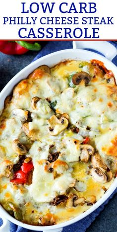 Low Carb Philly Cheese Steak Casserole - Skinny Southern Recipes - Düşük karbonhidrat yemekleri - Las recetas más prácticas y fáciles Keto Foods, Beef Recipes, Cooking Recipes, Healthy Recipes, Low Carb Hamburger Recipes, Meatloaf Recipes, Easy Recipes, Ground Beef Keto Recipes, Vegetarian Recipes