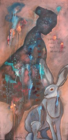 Some rabbit trails lead to great adventure - Nicolette Geldenhuys Art (FB)