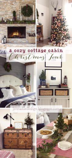 A cozy cottage cabin Christmas home tour Part 1