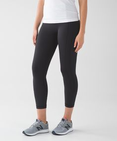 These medium-rise, cross-sport  crops have you covered in all  the right places. Nocturnal teal 8.