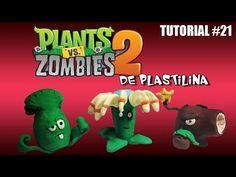 Tutorial Plantas Vs Zombies 2 de Plastilina de Plastilina - YouTube