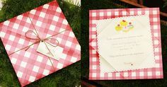 festa aniversario picnic convite