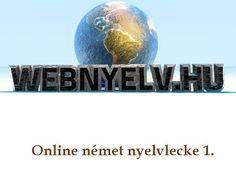 Webnyelv: Online német nyelvlecke kezdőknek - próbavideó