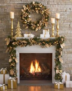 Image result for christmas hearth