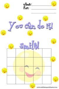 1000 images about behavior charts on pinterest sticker for Smiley face behavior chart template