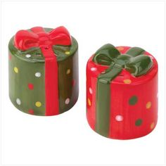 Christmas salt and pepper shakers!