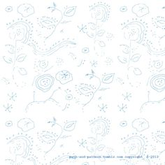 Blue Flower Scribbles