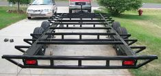 Pics of my car hauler trailer built with a Millermatic 175 - Miller Welding Discussion Forums