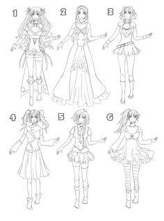 Outfit set 8: with models :D by Kohane-chan.deviantart.com on @DeviantArt