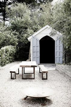 Back garden eating sheds VINTAGE HOUSE DAYLESFORD | THE STYLE FILES