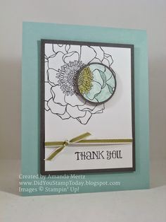 Did You Stamp Today?: Soft Spotlight with Sparkle, Stampin' Up!, SU, Blended Bloom, Many Thanks, Spotlight Technique