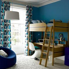 Para espaços pequenos o combo beliche + escrivaninha é uma solução charmosa e prática. bunk /desk combo #
