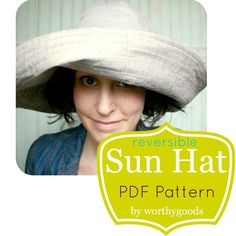 Sun Hat PDF Pattern - Womens Over the Top Sunhat DIY Sewing Project Pattern - Digital File Download