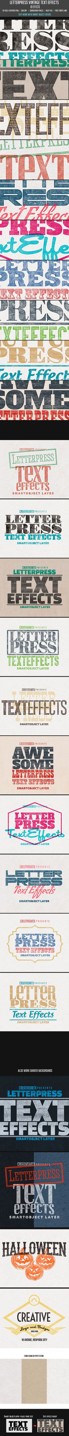 Letterpress Vintage Text Effects for Photoshop. Download here: http://graphicriver.net/item/letterpress-vintage-text-effects/9749142?ref=ksioks