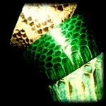 Envenena to look con las pulseras de piel de vibora. 100% natural #OPHIDIA by LooKcrecia