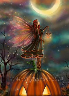 All Hallows' Eve New Digital Painting by by MollyHarrisonArt