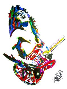 Eddie Van Halen Lead Guitar Player Guitarist Edward Van by thesent, $14.99