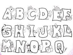 Letras d net Bullet Journal Hand Lettering, Hand Lettering Fonts, Doodle Lettering, Creative Lettering, Bubble Letter Fonts, Valentine Coloring Pages, Doodle Characters, Alphabet Templates, Felt Patterns