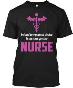 Greater Nurse Black T-Shirt Front