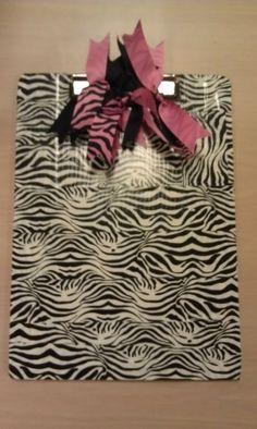 zebra duct tape clip board