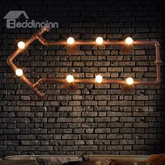 8 Bulbs Creative Arrow Water Pipe Decorative #Wall #Light. Summer time! Let's start a outdoor party!