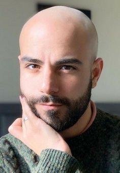 Bald Men With Beards, Black Men Beards, Bald With Beard, Bald Guy, Faded Beard Styles, Beard Styles For Men, Hair And Beard Styles, Shaved Head With Beard, Short Hair With Beard