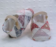 Cotton Baby Booties  Handmade baby shoes from a by PureAndSimplyMe, $30.00