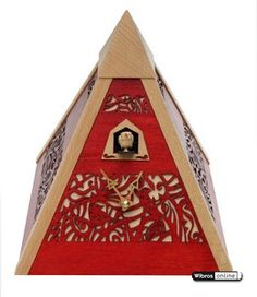 Cuckoo clock - modern pyramid by Rombach & Haas