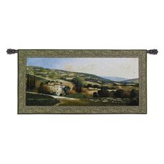 Fine Art Tapestries My Villa In Tuscany Wall Tapestry - 2755-WH