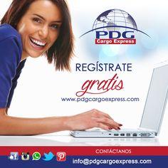 Regístrate en nuestra web www.pdgcargoexpress.com y obtén de manera gratuita tu número de casillero
