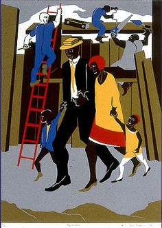 The Builders, a painting by Jacob Lawrence