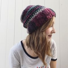 A personal favorite from my Etsy shop https://www.etsy.com/listing/251124987/maroon-green-chunky-slouchy-beanie