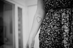Heart simple black tattoo / ink