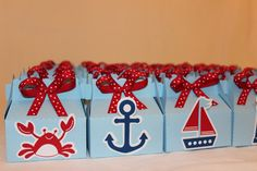 Nautical Party or Baby Shower Favor Boxes by TamaraMarieOriginals, $24.00