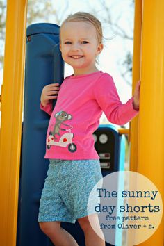 Freshly Completed: Sunny Day Shorts -- Free Pattern by Oliver + S