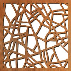 Ice Dreams: Lightwave laser.  Lasercut wood panels.