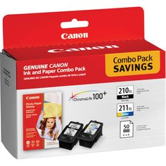 Canon PG-210XL Black & CL-211XL Color Inks and Paper Combo Pack @ B&H Photo.  $39.99  Free Shipping & No Tax