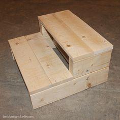 Super Simple Kid's DIY 2x4 Wooden Step Stool