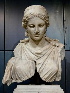 Female marble statue, believed to be a Roman-era copy of a statue of Artemis by the Athenian sculptor Cephisodotus the Elder (fl. ca. 400-360 BCE).  Now in the Capitoline Museums, Rome.