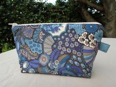 Zippered Pouch - Liberty fabric outer and lining