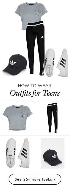 """Untitled #5129"" by dede on Polyvore featuring New Look and adidas"