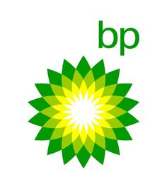 The BP logo uses analogous colours in green, lime and yellow. These colour combination gives out a green nature-like effect which moves them away from the image of being an oil company and its effects on the environment. Corporate Design, Corporate Logos, Business Logos, Bp Gas, Bp Logo, Donation Request, Logo Samples, Logo Design, Ad Design