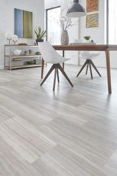 Light Gray Indoor Wood PVC Click Flooring
