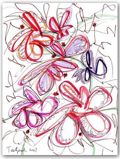 Modern Drawing 58 by Lynne Taetzsch at http://www.artbylt.com