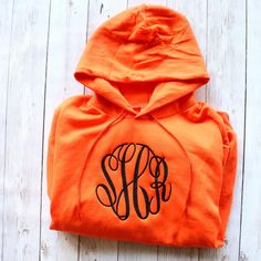 MONOGRAMMED HOODED SWEATSHIRT- OVERSIZED MONOGRAM Girl God, Hooded Sweatshirts, Hoodies, Sweater Weather, Monograms, Personalized Gifts, Initials, Fancy, My Style