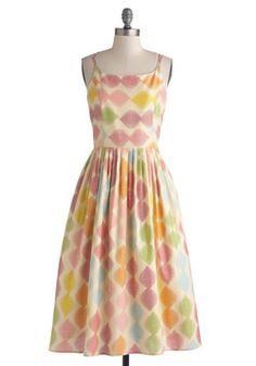 High Socie-tea Dress in Macaron, #ModCloth, I love this for its geometric pattern. It is so cute and girly. The pastels are also a fave of mine.