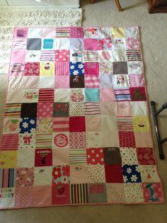Lola's onesie quilt