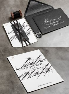 Striking Wedding Invitations. To see more: http://www.modwedding.com/2014/04/18/striking-wedding-invitations/  #wedding #weddings #invitation Featured wedding invitation designer: BLISS & BONE