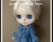 PDF Knitting Pattern for Cardigan and Sweater for Blythe. $8.00, via Etsy.